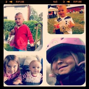 Ole 5 år, Åsa 8,5 år og søt kusine:)